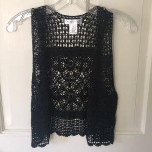 White House Black Market crochet vest